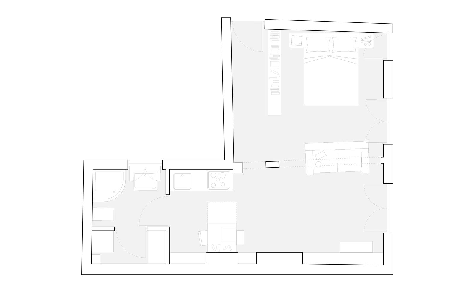 Salle De Bain Petit Espace Plan ~ bruno egger mazzoleni architetti associati